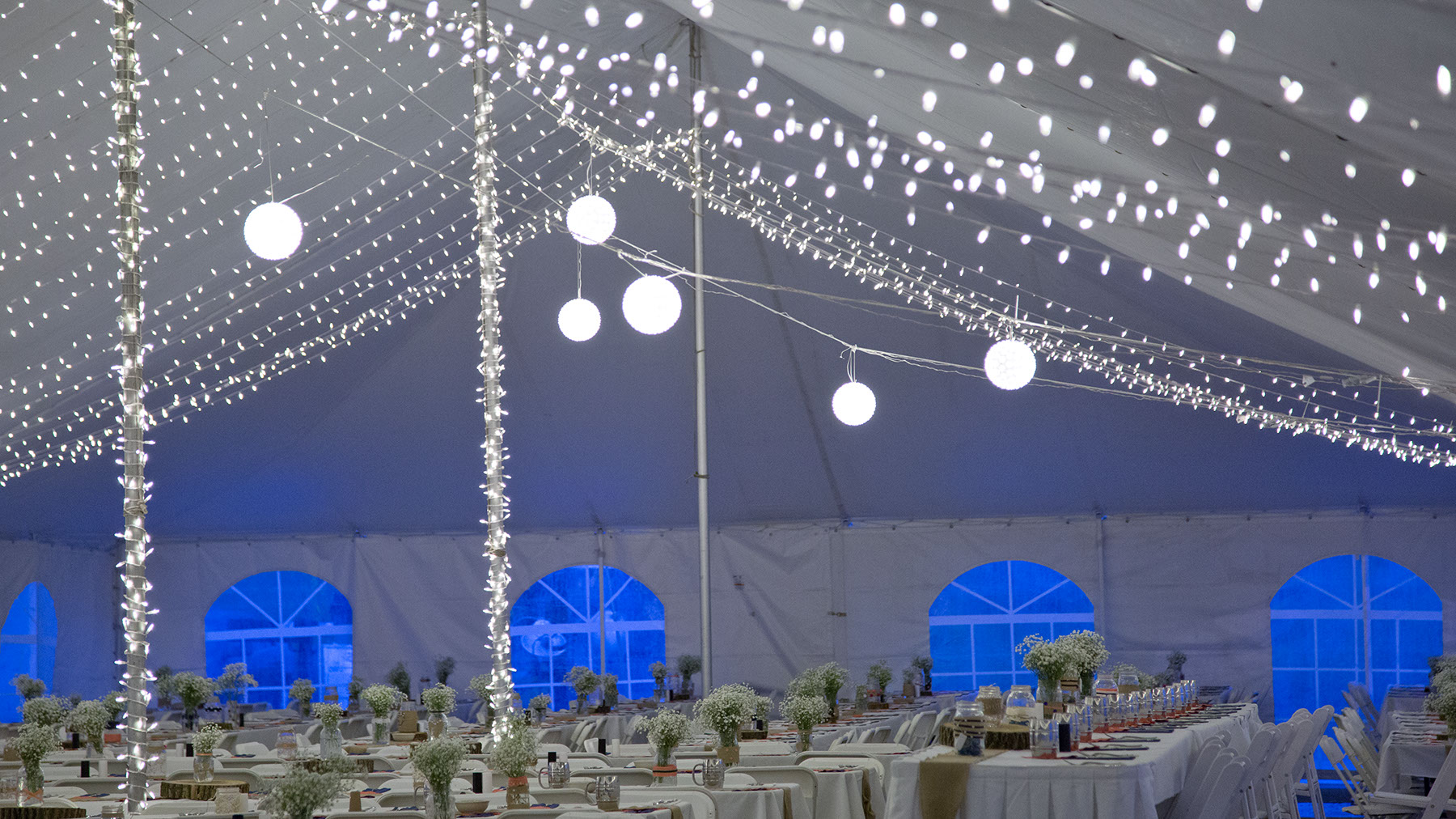 """Whimsical Lighting Fixtures for Outdoor Wedding"