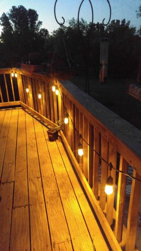 string lights for deck