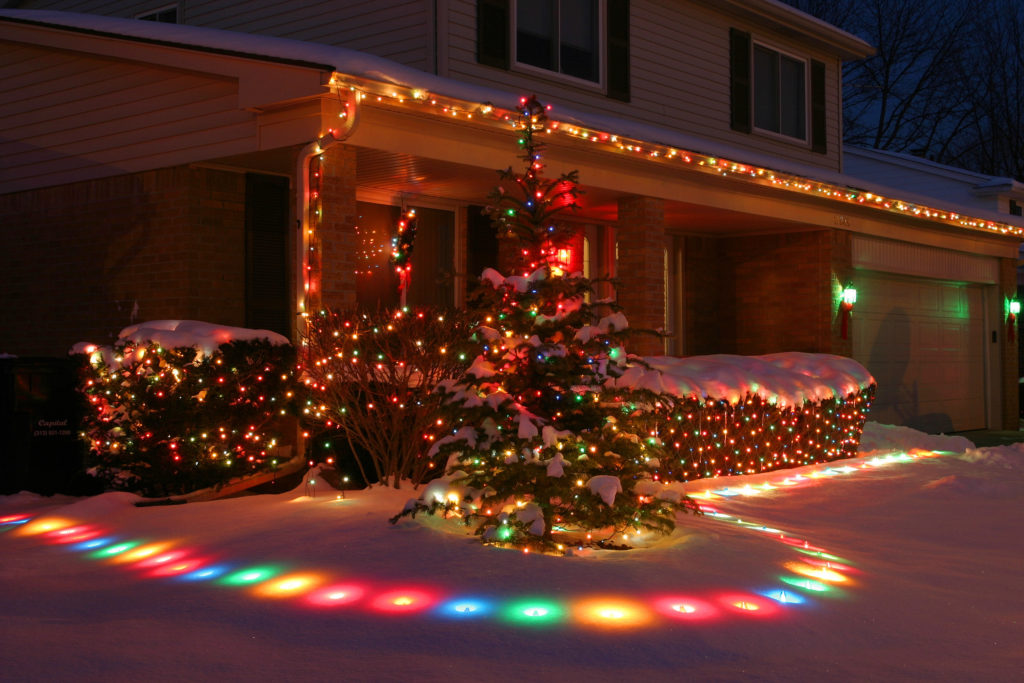 colorful outdoor led Christmas lights